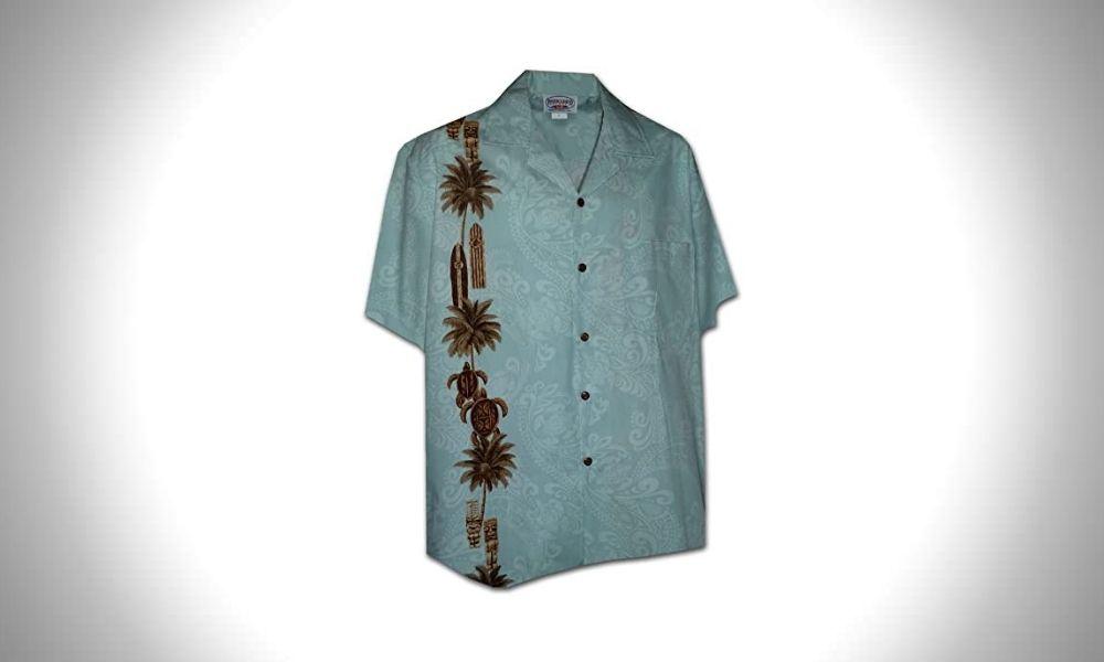 Pacific Legend Hawaiian Tiki Panel Mens Aloha Shirt