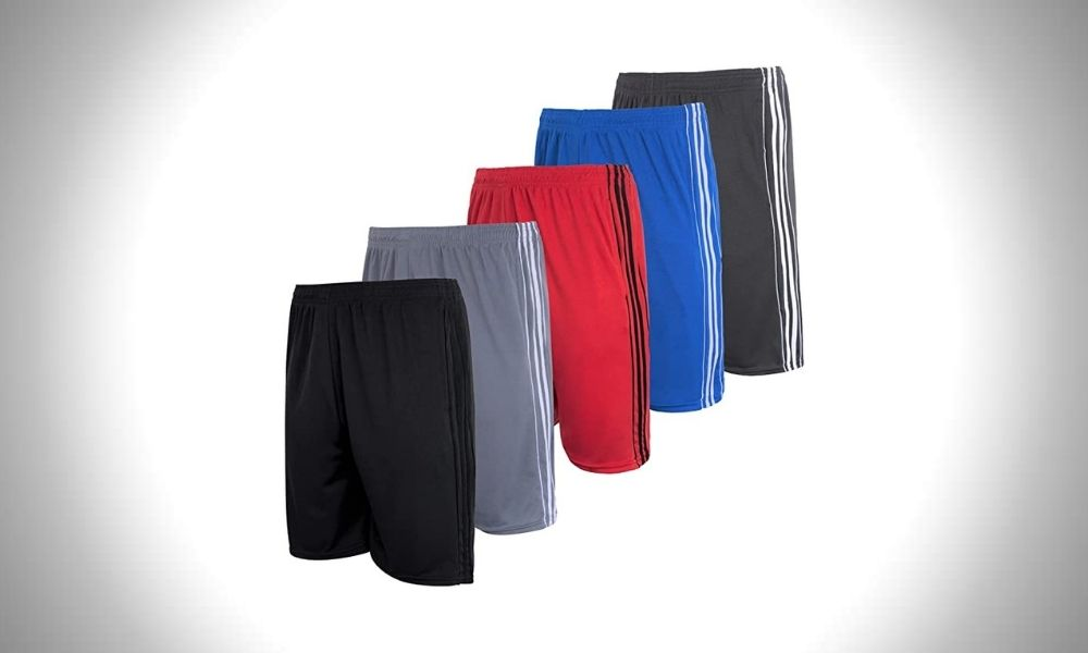 Real Essentials | Mesh Athletic Performance Gym Shorts 5-pack