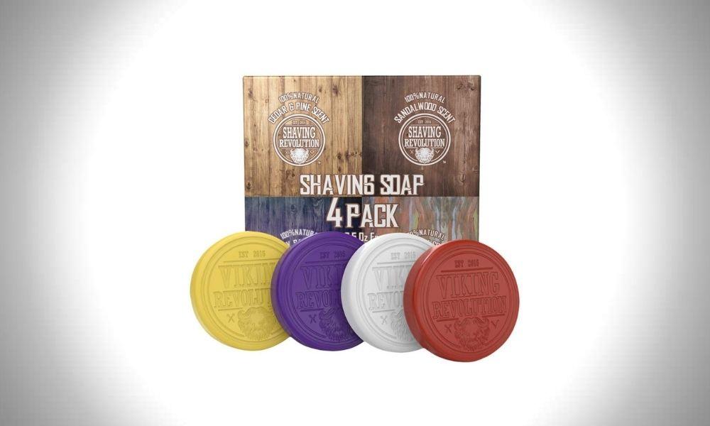 The Viking Revolution Shaving Soap Bar 4 Pack