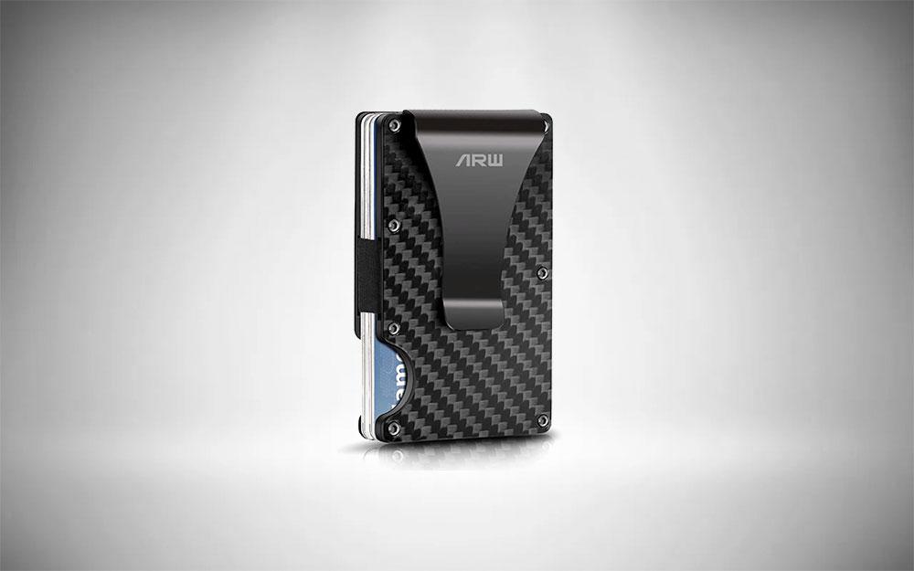 ARW Carbon Fiber Wallet + Metal Money Clip