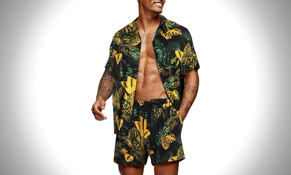COOFANDY Short Hawaiian Outfit for Men