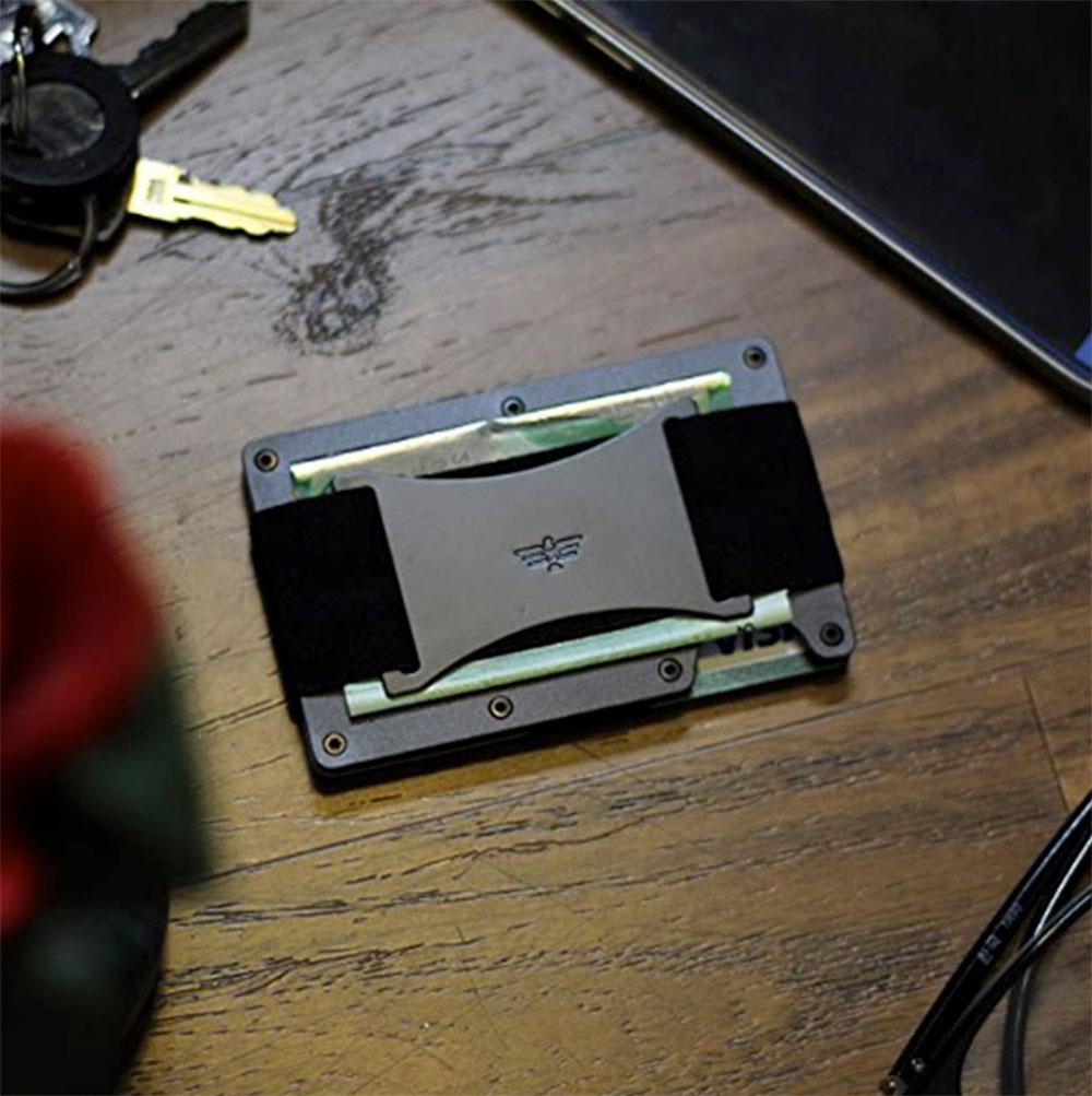 Duxtio Slim Minimalist Aluminum Wallet for Men
