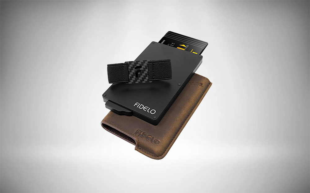 Fidelo Hybrid Metal Credit Card Holder with Money Clip