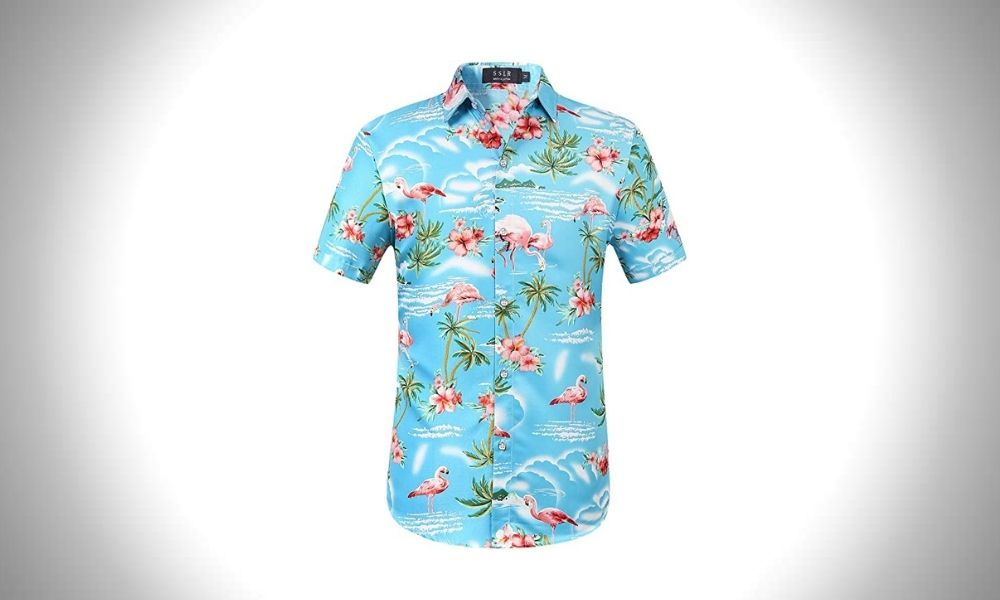 SSLR Short Sleeve Hawaiian Shirts for Men