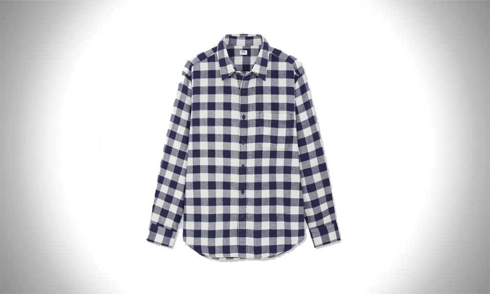 Uniqlo Men's Flannel long-sleeve shirt