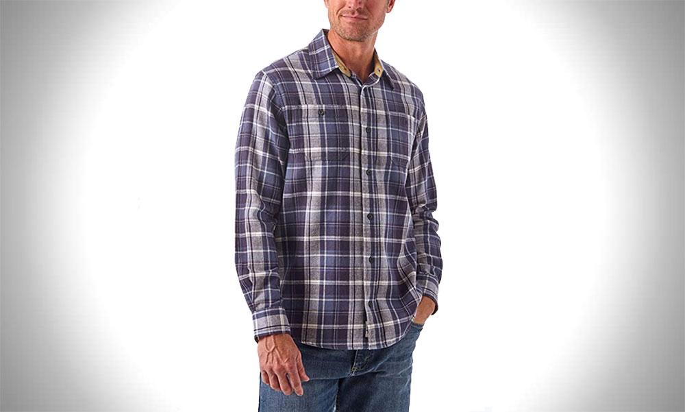 Wrangler Authentics   Long Sleeve Mens Flannel Shirts