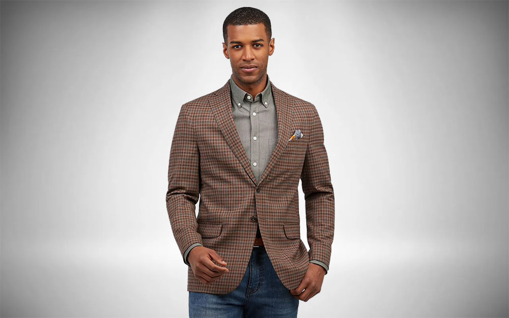 Country Club Outfits - Jos A. Bank Tattersall Sportcoat