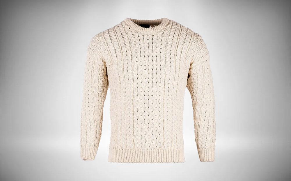 Irish Knit Sweater - Aran Woollen Mills