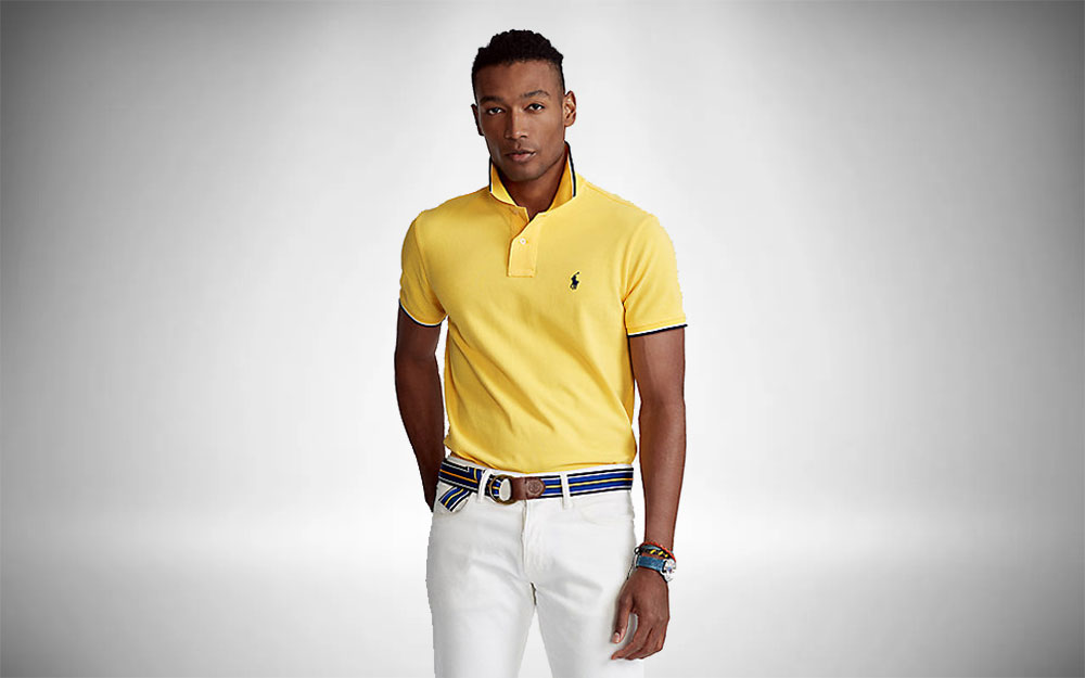 Preppy Mens Style - Ralph Lauren Contrast Tipped Polo
