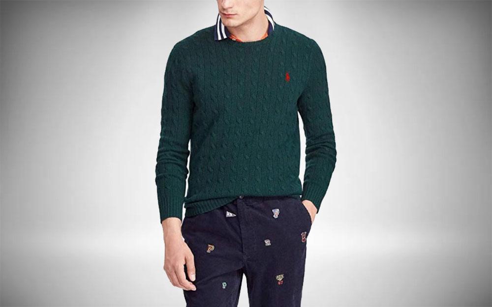 Preppy Sweatshirts Polo Ralph Lauren Cable Knit Sweater