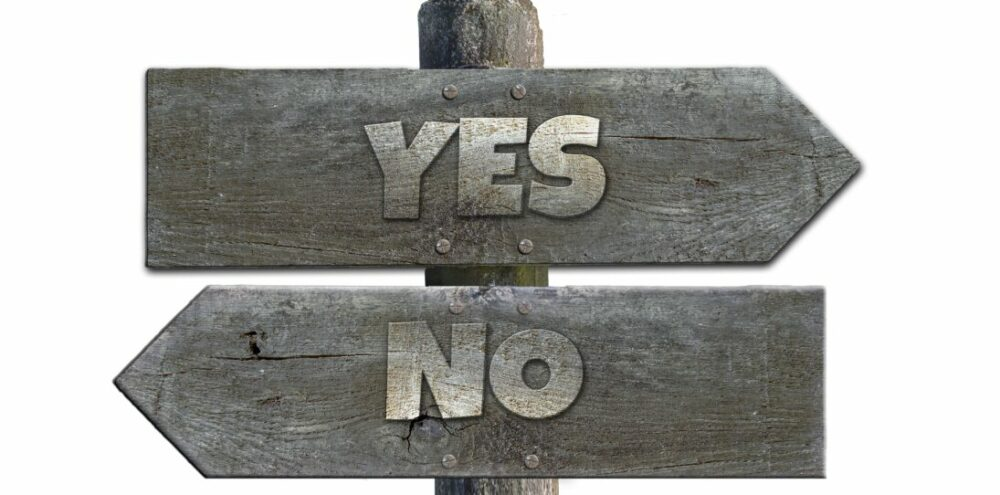 What question can you never honestly answer yes to?